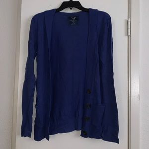 American Eagle Blue Cardigan Sweater - Size Small